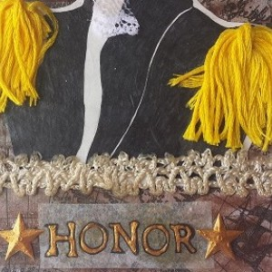 Honor Mini Mixed Media Art & Bookmark