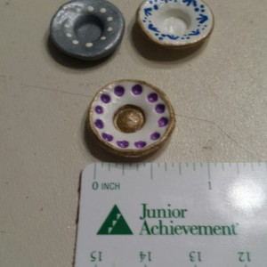 Dollhouse Miniature Clay Serving Items