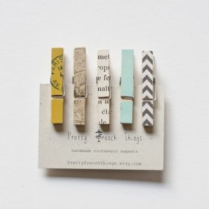 Mini Clothespin Magnets