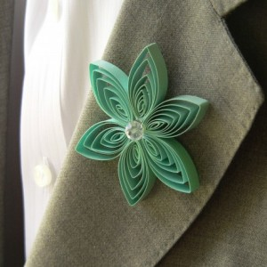 Boutonniere for a Fall Wedding