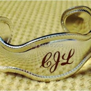 Monogrammed Sterling Silver Cuff Bracelet