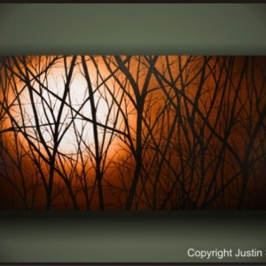 """MOONLIGHT"" READY TO HANG LARGE GICLEE PRINT ON CANVAS GALLERY WRAPPED PAINTING!"