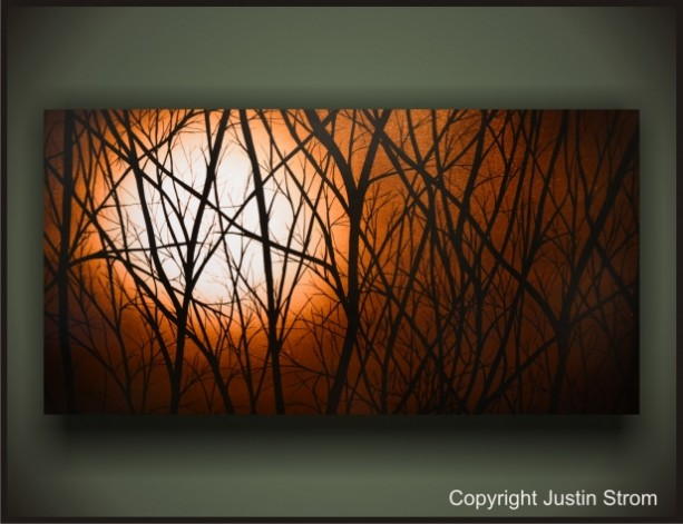 """""""MOONLIGHT"""" READY TO HANG LARGE GICLEE PRINT ON CANVAS GALLERY WRAPPED PAINTING!"""