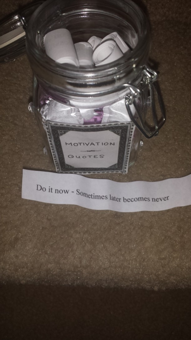 motivational quote jar aftcra