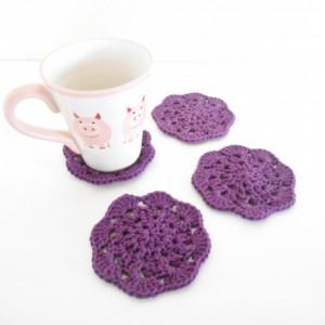 Crochet Coasters, Set of Four