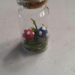 Cute Mushroom Bottle Pendant Necklace