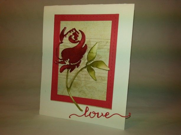 Red Rose (set of two cards)