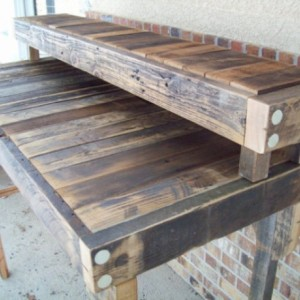 Reclaimed Wood Standing Desk in a Natural Finish