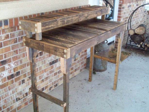 Admirable Reclaimed Wood Standing Desk In A Natural Finish Download Free Architecture Designs Scobabritishbridgeorg