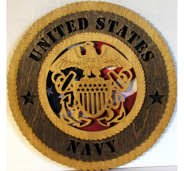 Navy Wall Plaque