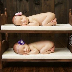 DIY Stackable Bunk Bed Photography Prop Posing Beds Mattresses and Ladder Small Traditional Newborn Twins