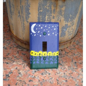 Purple Night Light Switch Plate