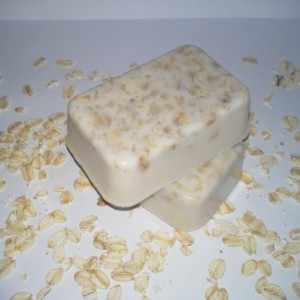 Three Natural Homemade Sweet Almond, Honey and Oatmeal Exfoliating Soaps
