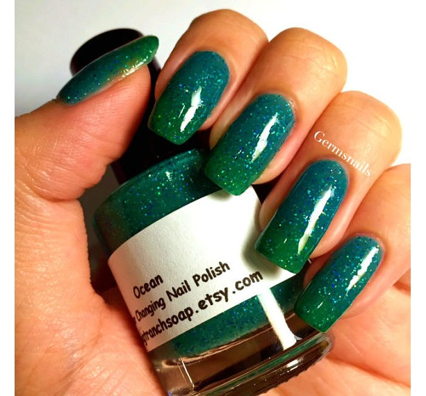 Color Changing Nail Polish Mood Ocean Temperature Custom Blended