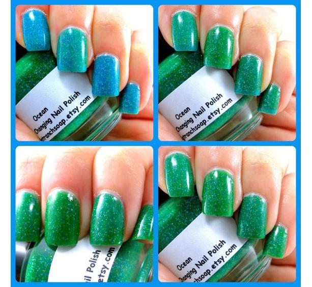 Color Changing Nail Polish Mood Nail Polish Ocean Temperatu Aftcra