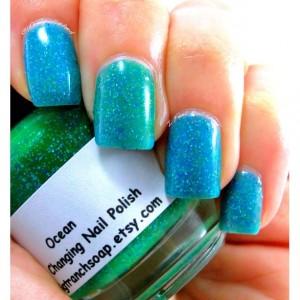 Color Changing Nail Polish - Mood Nail Polish - OCEAN - Temperature Changing - Custom Blended Polish/Lacquer - 0.5 oz Full Sized Bottle