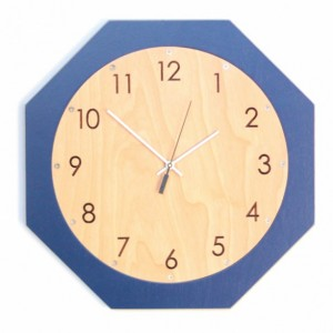 "Octoclock - Quiet, 15"" Octagon Wall Hanging Clock"