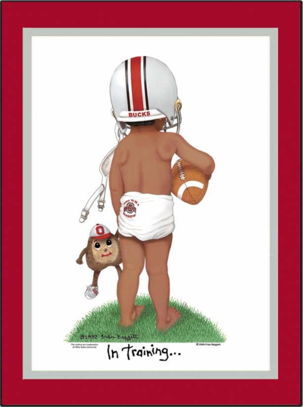 Ohio State Buckeyes Personalized Football Collegiate Art