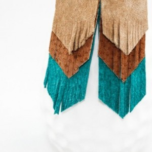Suede Fringe Earrings