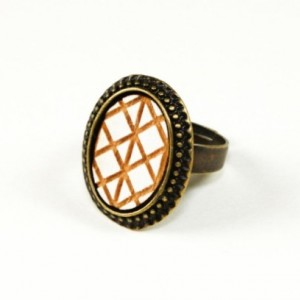 Geometric Ring (White)