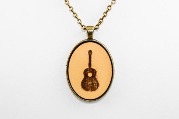 Cameo Pendant - Guitar (Mustard Yellow)
