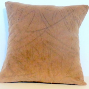 TWO 18X18 BROWN MICR-FIBER PILLOW COVERS