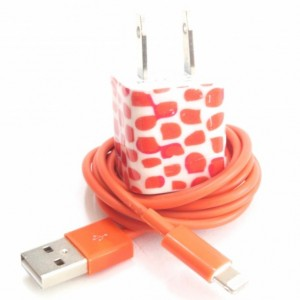 Orange Giraffe Cell Phone Charger
