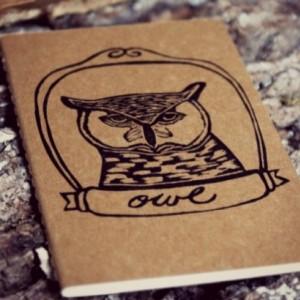 Great Horned Owl Bird Lined or Blank Notebook Moleskine