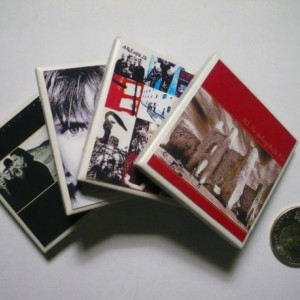 U2 Tiny Album Cover Ceramic Refrigerator Magnets set of 4