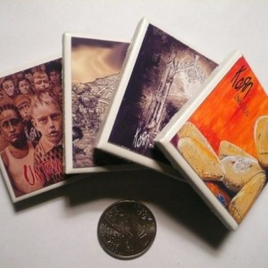 Set of Four Korn Album Covers Mini Magnets