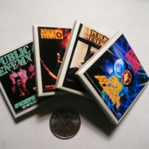 Set of Four Public Enemy Album Covers Mini Magnets