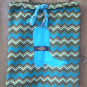 Zigzag Fleece Bag With A Boot Decoration.