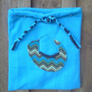 Fleece Bag with Cowboy Hat Decoration