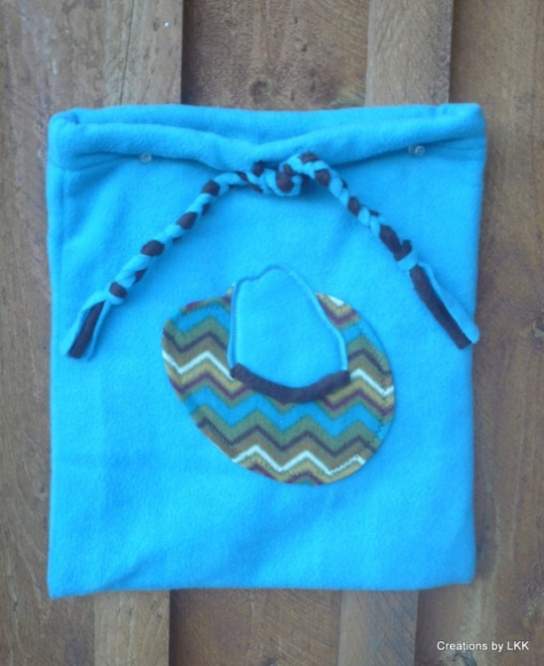 Fleece Bag with Cowboy Hat Decoration