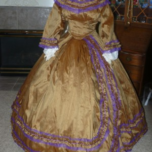 Silk Civil War Reenactment Victorian Dinner Ball Gown Southern Belle Dress Set Ladies Ruching CUSTOM Satin available