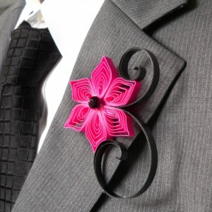 Two Color Boutonniere