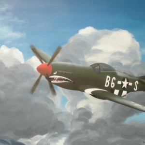 P 51 Mustang painting
