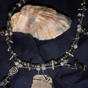 Fossil Shells and Shark Teeth Necklace
