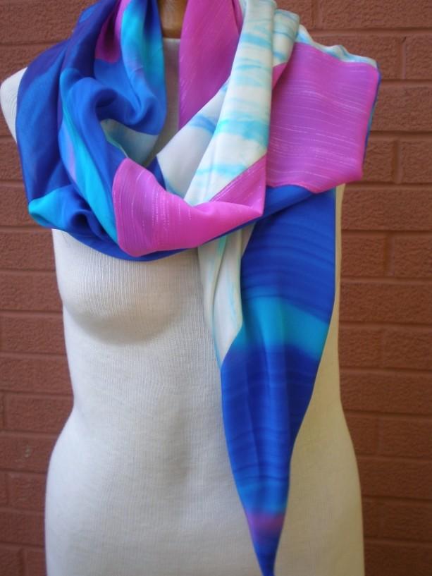 bias pieced scarf