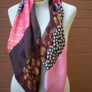 pieced bias scarf