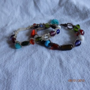 Multi-color Glass Bead Bracelets