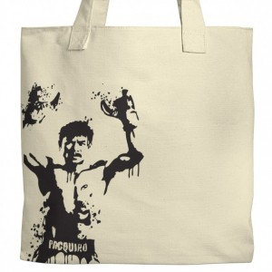 Manny Pacquiao Boxing Canvas Tote