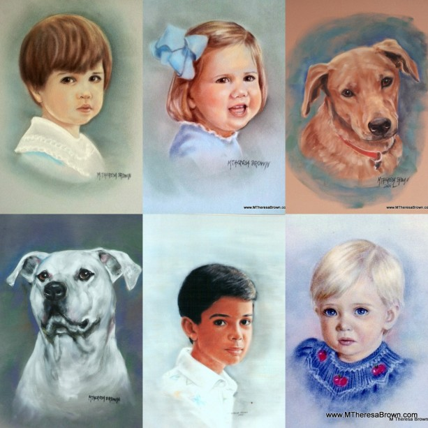 Custom Pastel portraits, all subjects, FREE shipping