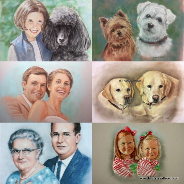 Two subject Pastel Portrait, Custom Pet or people portrait