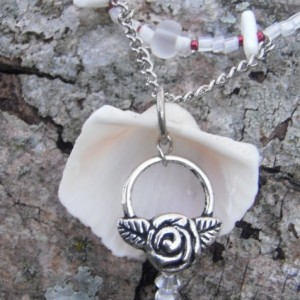 """Wintery Beach"", Reversible Sea Shell Necklace"