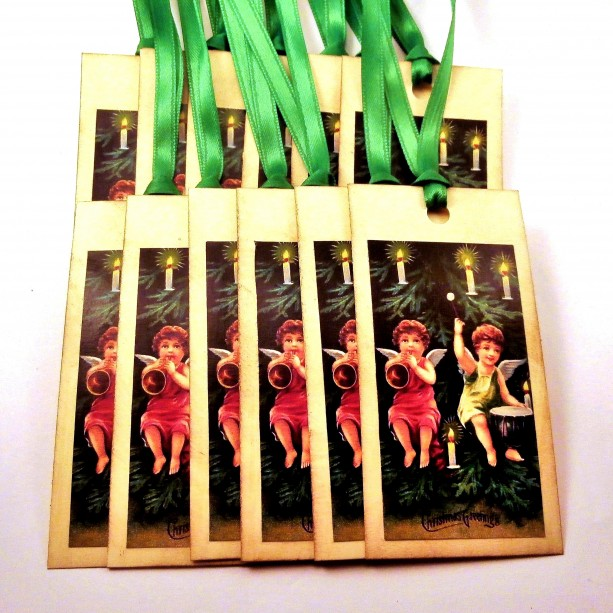 Cherub Gift Tags - Set of 12