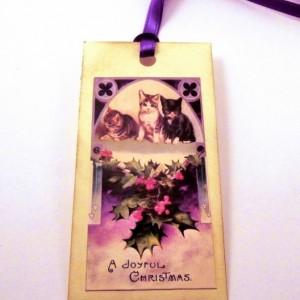 Victorian Kitten Gift Tags - Set of 12