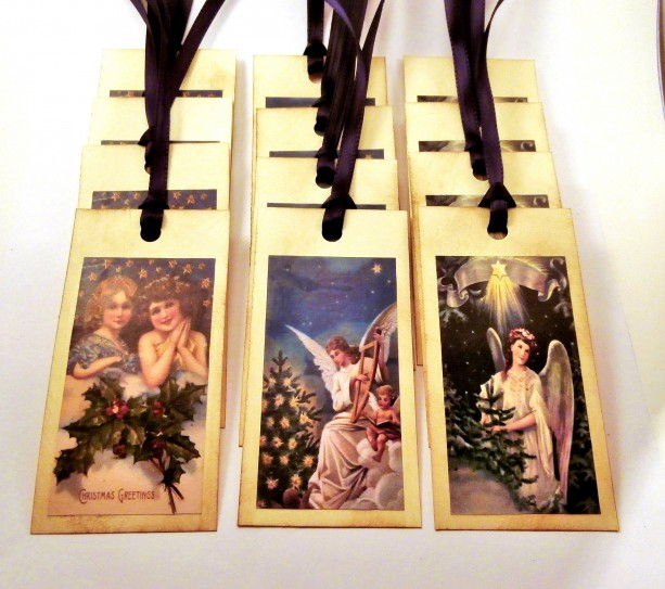 Gift Tags - Victorian Angels - Set of 12