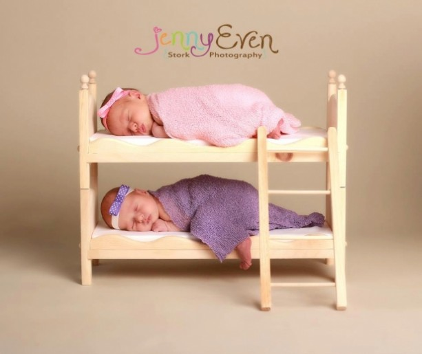 Princess And The Pea Newborn Twins Photography Prop Posing