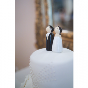 Wedding Peg Dolls Cake Topper